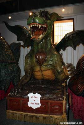 El dragón de Sant Jordi   del museo de las Rocas o del Corpus de Valencia.