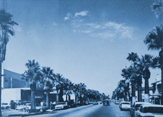 Palm Canyon Drive,  Palm Springs, 1960.