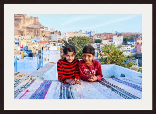 Children, Blue City Sodagaran Mohalla, Jodhpur, Rajasthan