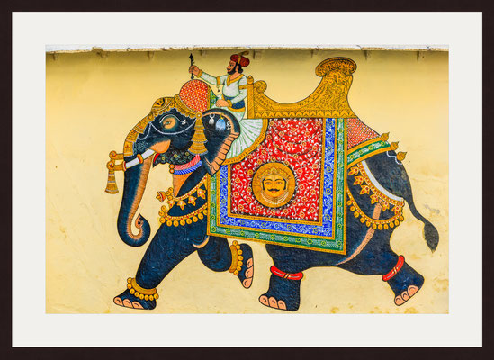 Elephant, Kingdom of Mewar, City Palace, Udaipur, Rajasthan