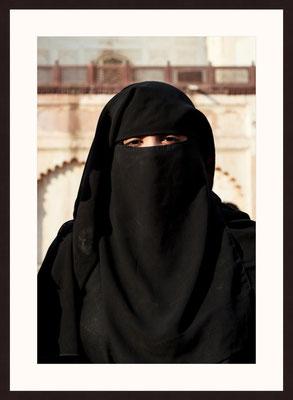 Muslima Mit Burka, Aurangabad, Maharashtra