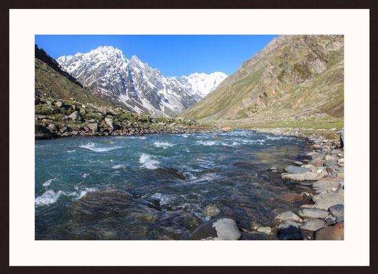 Gletscherwasser, Lahaul Valley, Himachal Pradesh, Indien