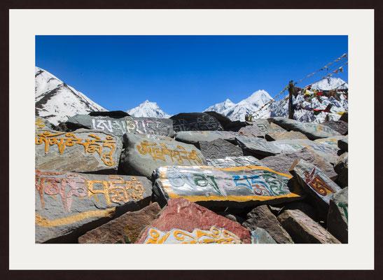 Mani Stones, Kunzum Pass, Himachal Pradesh
