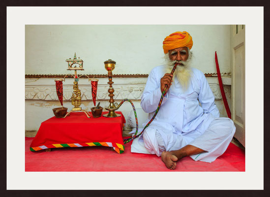 Old Man, Mehrangarh Fort, Jodhpur, Rajasthan