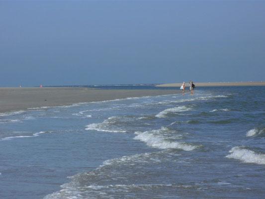 Zu Fuß am Strand entlang zum Inselosten Norderneys