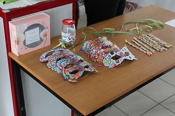 masques origami de Mony au profit du Téléthon