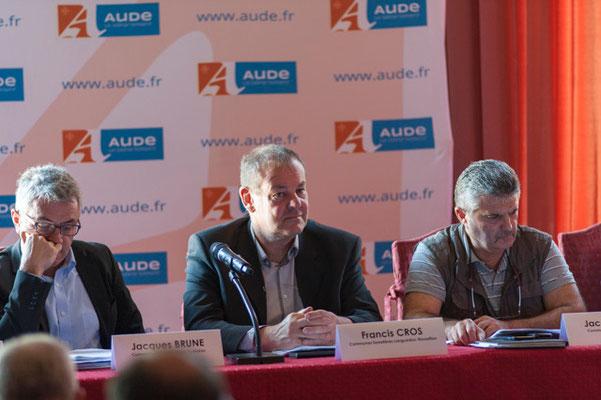 Francis Cros Président de la Communauté de commune du Haut-Languedoc (34) et Président de l'Union Régionale de Communes Forestières du Languedoc-Roussillon