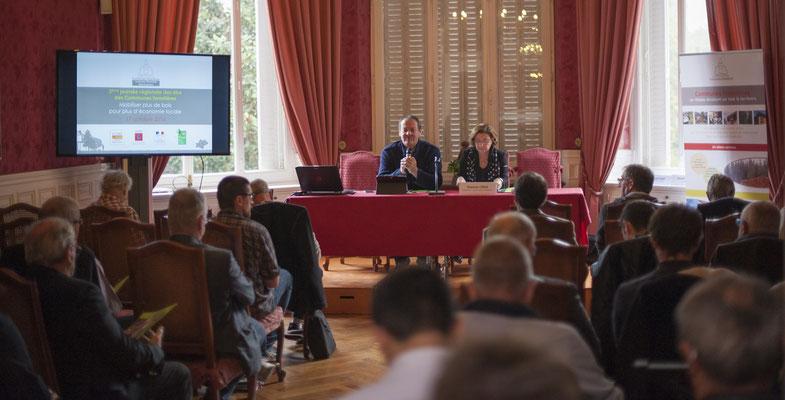Francis Cros Président de l'Union Régionale des Collectivités Forestières Occitanie, Gisèle JOURDA Sénatrice de l'Aude