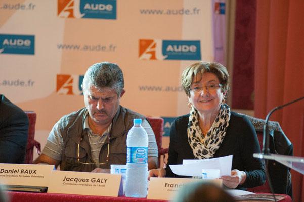 ( à droite) Gisèle JOURDA Sénatrice de l'Aude