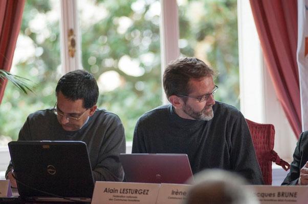 (à gauche) Philippe LONJON Directeur de l'Union Régionale des Communes Forestières du Languedoc-Roussillon,  (à droite)  Alain LESTURGEZ Directeur de la Fédération Nationale des Communes Forestières