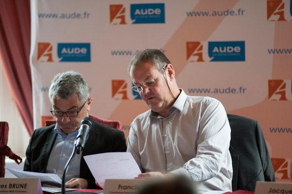 (à gauche) Jacques BRUNE Maire de Baudéan (65)