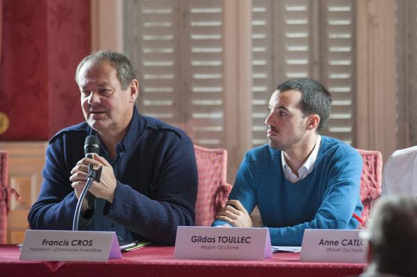 Francis CROS Président de l'Union Régionale des Collectivités Forestières Occitanie, Gildas TOULLEC Région Occitanie