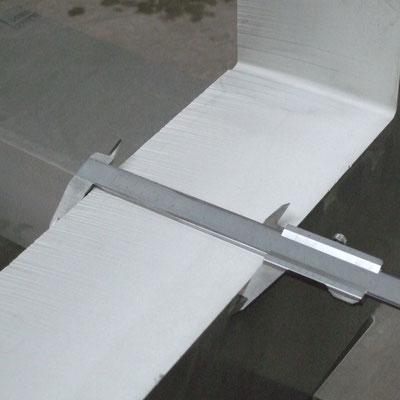 dickes Aluminium bis 120mm mit Wasserstrahl kein Problem