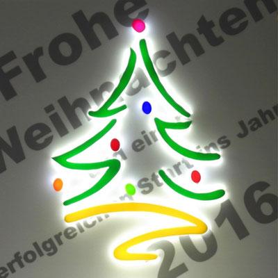 moderner Weihnachtsbaum in LED Technik