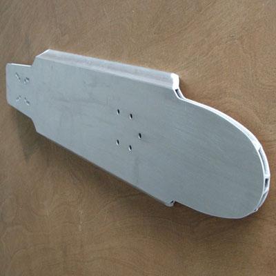 Konturbearbeitung eines Aluminium - Hohlprofils