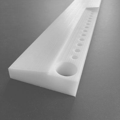 PE 40mm: Schräge und Abstufung gefräst