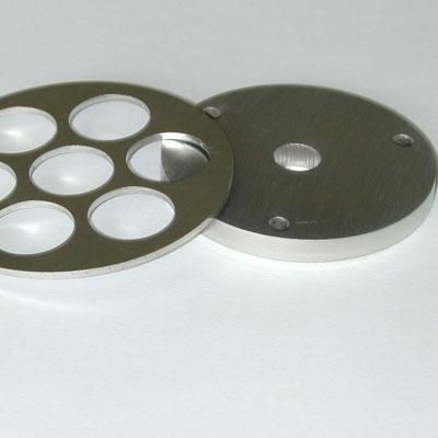 Aluminiumflansche gelasert oder mit Wasserstrahl geschnitten