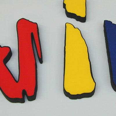 filigraner schwarzer Rand mit Wasserstrahl passgenau geschnitten