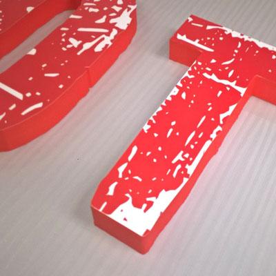 Schaumlogo mit individuellem Digitaldruck