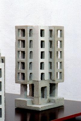 Karlsruhe, 2003, Betonguss, Leimfarbe, 48x18x22 cm