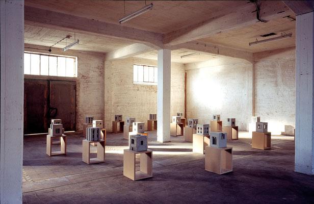 Ausstellungsansicht xhoch3, Kulturspeicher Dörenthe, 1999
