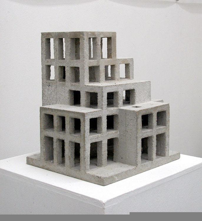 Haus Bern, 2004, Betonguss, 43x41x38 cm