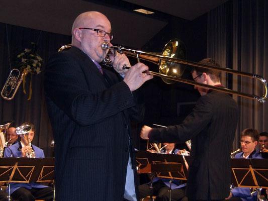 Gastsolist Armin Bachmann an der Posaune