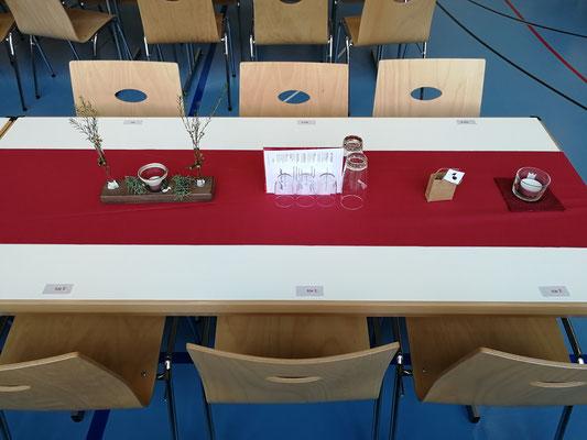 Die wunderschöne Tischdekoration wurde von Trudi Stocker und Franz Renggli gestaltet
