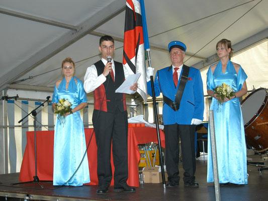 Präsident Pius Amrein beim Festakt