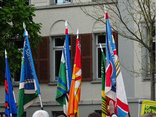 Die Römerswiler-Fahne in der Mitte
