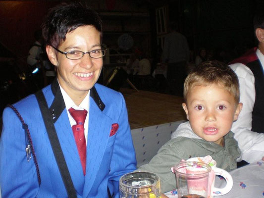 Erna Schacher mit Jonas