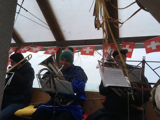 Josi und Franz auf dem Euphonium