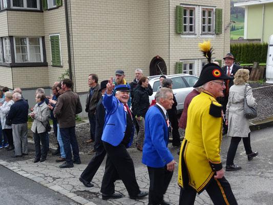 Unser Kantonale-Ehrenveteran beim Einzug