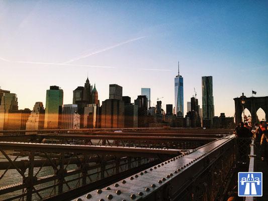 New York, Manhattan, Brooklyn Bridge