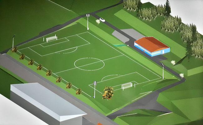 Status Quo: So sieht das bisherige Sportgelände inklusive Sportheim aus. Es wird Zeit für Veränderung.