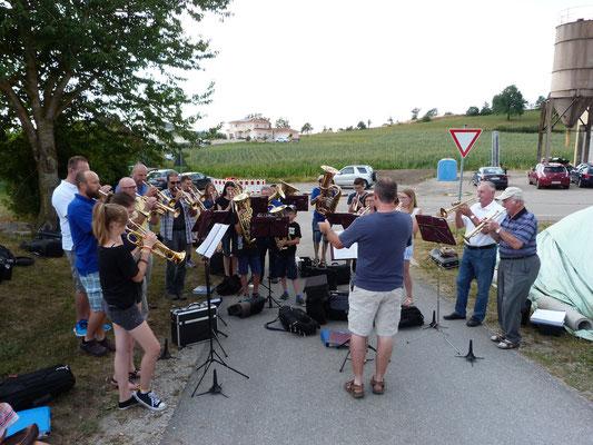Musikalische Umrahmung durch den Posaunenchor Erzberg