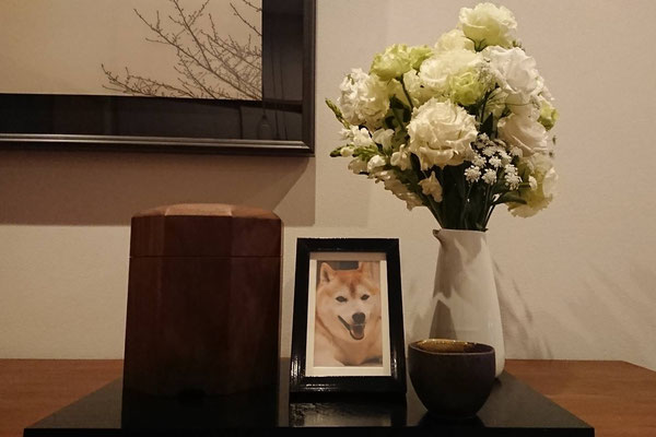 H様邸 レオン君(柴犬)印籠4号寸 ウォールナット