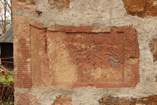Viertelmeilenstein Rochlitz (vermauert)