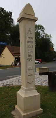 Halbmeilensäule Grumbach/ Wilsdruff