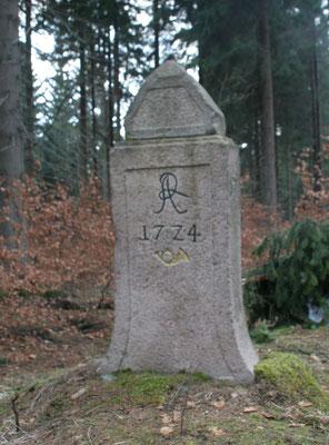 Viertelmeilenstein Reitzenhain