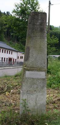 Ganzmeilensäule Schlottwitz (Reststück)