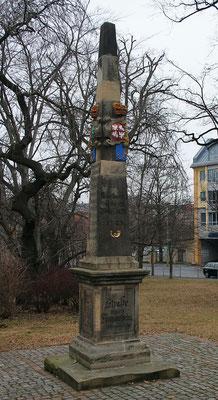 Distanzsäule Freiberg, Postplatz
