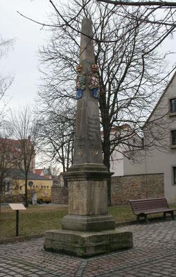 Distanzsäule Freiberg, Meißner Gasse