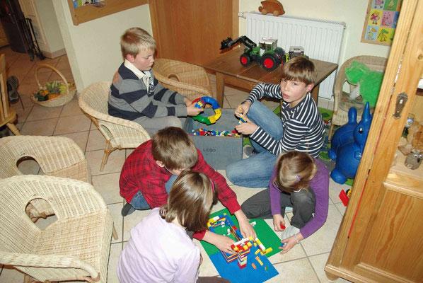 Spielecke im Gemeinschaftsraum