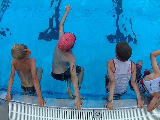 3.6.18 - Start zum swim & run in Lustenau