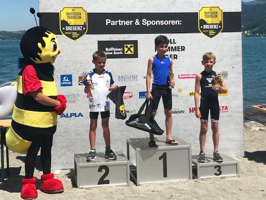 29.6.2019 - Ben Schädler wird Dritter beim swim & run in Bregenz