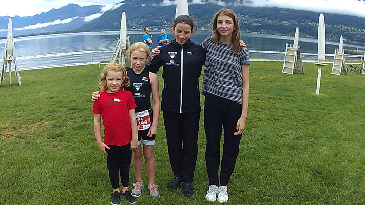 1.9.2018 - Livia, Sarina, Flavia und Silva nahmen am Kids Tri Locarno teil