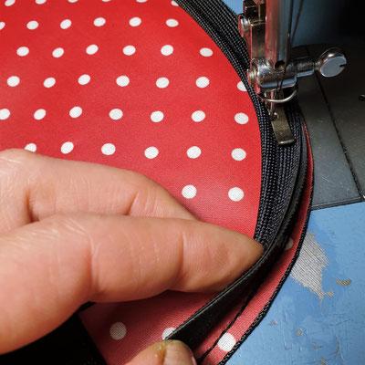 feewerk, Lenkertaschen, Fahrradtaschen, Gepäckträgertaschen, Gepäcktaschen, Fahrrad, rote punkte,