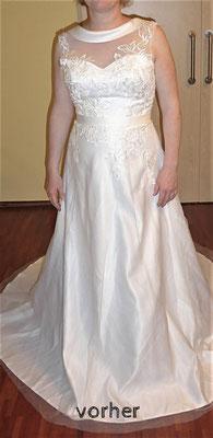 langes Brautkleid