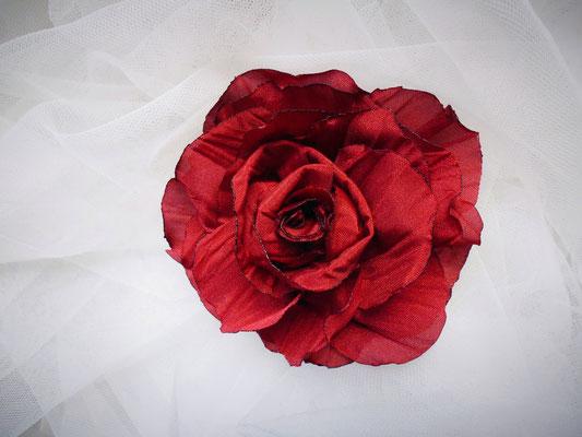 rote stoffblume selbst gemacht